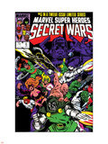 Secret Wars No.6 Cover: Dr. Doom, Absorbing Man, Lizard, Doctor Octopus, Wrecker and Ultron Plastic Sign by Mike Zeck