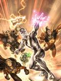 Annihilators No.1 Cover: Silver Surfer, Gladiator, Quasar, Beta-Ray Bill, and Ronan the Accuser Plastic Sign by Alex Garner