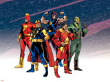 The Official Handbook Of The Marvel Universe Teams 2005 Group: Comet Wall Decal by Mike Harris