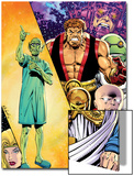 Hercules: Twilight of a God No.3 Cover: Hercules and Others Print by Bob Layton
