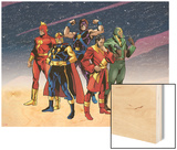 The Official Handbook Of The Marvel Universe Teams 2005 Group: Comet Wood Print by Mike Harris