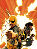 Power Man and Iron Fist No.4 Cover: Iron Fist and Power Man Posing Wall Decal by Mike Perkins