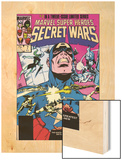 Secret Wars No.7 Cover: Captain America, Spider Woman, Doctor Octopus and Wolverine Wood Print by Mike Zeck