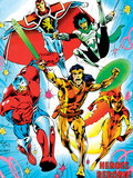 The Official Handbook Of The Marvel Universe Teams 2005 Cover: Albion Plastic Sign by Alan Davis