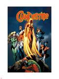 Clandestine 3 Cover: Phoenix Plastic Sign by Alan Davis