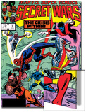 Secret Wars No.3 Cover: Colossus, Nightcrawler, Spider-Man, Wolverine, Storm, Cyclops and X-Men Prints by Mike Zeck