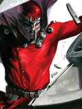 Vengeance No.1 Cover: Magneto Smashing Signe en plastique rigide par Gabriele DellOtto