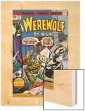 Werewolf By Night No.32 Cover: Moon Knight and Werewolf By Night Wood Print by Don Perlin