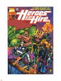Heroes For Hire No.1 Cover: Cage, Luke, Iron Fist, Hulk and Black Knight Plastic Sign by Pasqual Ferry