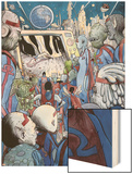Omega: The Unknown 10 Cover: Marvel Universe Wood Print by Farel Dalrymple
