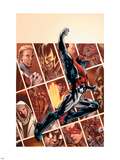 Captain Britain And MI:13No.1 Cover: Captain Britain Plastic Sign by Bryan Hitch