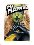 Ms. Marvel No.25 Cover: Ms. Marvel Plastic Sign by Greg Horn