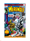 Werewolf By Night No.32 Cover: Moon Knight and Werewolf By Night Plastic Sign by Don Perlin