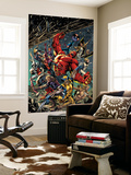 Age of Ultron 5 Cover: Red Hulk, Captain America, Storm, Iron Man, Moon Knight, Hawkey, Wolverine Wall Mural by Bryan Hitch