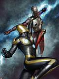Nova No.3 Cover: Nova and Penance Plastic Sign by Adi Granov