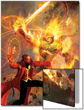 Strange No.6 Cover: Dr. Strange and Dormammu Fighting Poster