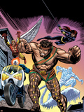 The Official Handbook Of The Marvel Universe Teams 2005 Group: Hercules Plastic Sign by Gil Kane