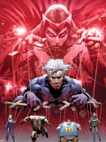 Ultimate Fallout No.5 Cover: Witch, Quicksilver, Sabretooth, Blob, and Mystique Plastic Sign by Bryan Hitch