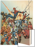 Last Hero Standing No.1 Cover: Spider-Man Wood Print by Scott Hanna