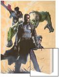 Secret Invasion No.4 Cover: Nick Fury Wood Print