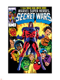 Secret Wars No.2 Cover: Magneto, Hulk, Spider-Man, Thing, Iron Man and Thor Wall Decal by Mike Zeck