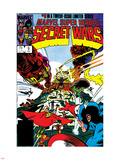 Secret Wars No.9 Cover: Captain America, Iron Man, Thor, Hulk and Galactus Plastic Sign by Mike Zeck