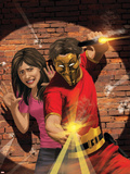 The Twelve No.4 Cover: Laughing Mask Plastic Sign by Kaare Andrews