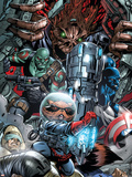 War of Kings No.3 Group: Rocket Raccoon, Drax, Major Victory and Groot Plastic Sign by Paul Pelletier