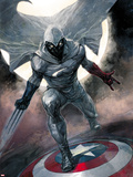 Moon Knight No.1 Cover: Moon Knight Plastic Sign by Alex Maleev