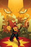 Captain Marvel 13 Cover: Captain Marvel, Spider Woman, Thor, Hulk, Black Widow, Captain America Signes en plastique rigide par Joe Quinones