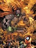 Marvel Team-Up No.11 Group: Spider-Man, Titannus, She-Hulk, Wolverine, Dr. Strange and Marvel Girl Plastic Sign by Paco Medina
