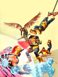 Marvel Zombies 4 Cover: Cyclops, Angel and Beast Plastic Sign by Arthur Suydam