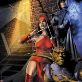 Heroes For Hire No.9 Cover: Elektra and Shroud Wall Decal by Jay Anacleto