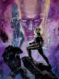 Nova No.15 Cover: Nova and Silver Surfer Print by Alex Maleev