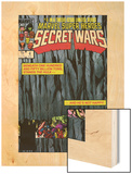 Secret Wars No.4 Cover: Hulk and Captain America Wood Print by Bob Layton