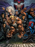 Ultimatum No.3 Cover: Magneto, Sabretooth, Madrox, Mystique, Blob, Quicksilver and Lorelei Wall Decal by David Finch