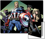 Ultimatum No.3 Group: Captain America, Hawkeye, Iron Man and Valkyrie Prints by David Finch