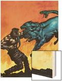 Hercules No.5 Cover: Hercules Wood Print by Mark Texeira