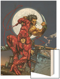 Astonishing Tales No.4 Cover: Daredevil, Wolverine and Punisher Wood Print by Kenneth Rocafort