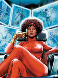 Heroes for Hire No.4 Cover: Misty Knight Sitting Plastic Sign by Doug Braithwaite