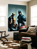 A+X 9 Cover: Wolverine, Captain America Wall Mural by Humberto Ramos