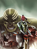 Fear Itself: The Worthy No.1 Cover: Red Skull, Juggernaut, Hulk, and Grey Gargoyle Plastic Sign by Jelena Djurdjevic