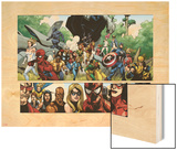 Secret Invasion No.1 Group: Captain America, Spider-Man and Vision Wood Print by Leinil Francis Yu