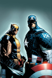A+X 9 Cover: Wolverine, Captain America Plastic Sign by Humberto Ramos