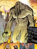 Thunderbolts No.162: Panels with Man-Thing Walking Plastic Sign by Valentine De Landro
