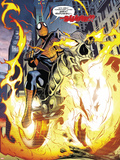 Amazing Spider-Man/Ghost Rider: Motoerstorm No.1: Spider-Man Riding a Flaming Motorcycle Plastic Sign by Lee Garbett