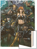 Ultimatum No.5 Cover: Grey, Jean, Beast, Wolverine, Cyclops, Colossus, Storm and Nightcrawler Wood Print by David Finch