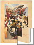 Annihilators: Earthfall No.1: Wolverine, Captain America, Iron Man and Others Jumping and Falling Wood Print by Tan Eng Huat