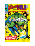 Tales to Astonish No.83 Cover: Hulk and Thunderbolt Ross Plastic Sign by Dick Ayers