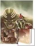 Fear Itself: The Worthy No.1 Cover: Red Skull, Juggernaut, Hulk, and Grey Gargoyle Wood Print by Jelena Djurdjevic